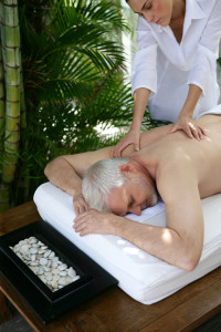 Man enjoying a massage