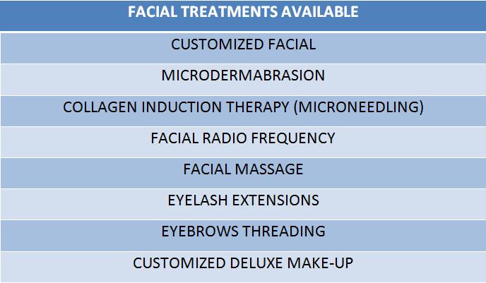 facial table